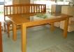 Masa din lemn masiv cu sticla