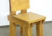 Scaun Rustic din lemn cu spatar