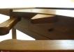 Masa de bijutier din lemn cu blat de stejar