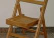 Scaun pliant cu spatar din lemn