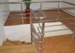 Trepte din lemn cu balustrada inox