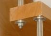 Detaliu prindere treapta de balustrada inox