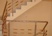 Balustrada inox imbracata cu lemn