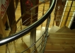 Balustrada inox imbracata cu lemn si trepte din lemn