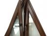 Fereastra triunghi cu geam termopan - esenta molid