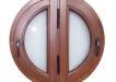 Fereastra rotunda cu geam termopan - esenta molid