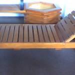 Sezlong din lemn
